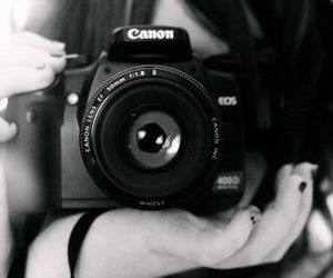 canon, girl, and camera image