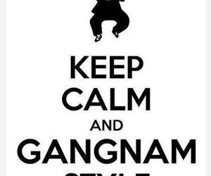 gangnam style, keep calm, and psy image