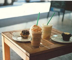 starbucks, food, and muffin image