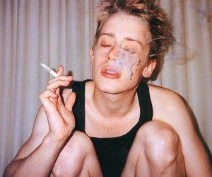 smoke, Macaulay Culkin, and cigarette image