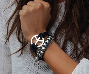 peace, fashion, and bracelet image
