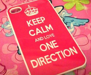 one direction, pink, and keep calm image