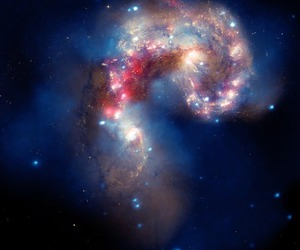 galaxy, space, and antennae image