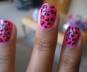 black, nail, and pinck image
