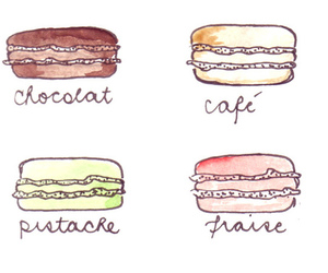 macaroons, chocolate, and coffee image