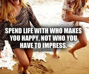 happy, quote, and friends image