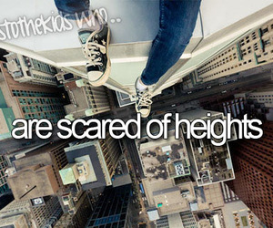 heights, high, and scared image