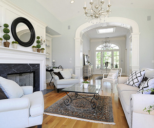 beautiful, black, and living room image