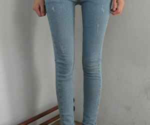 skinny, legs, and jeans image