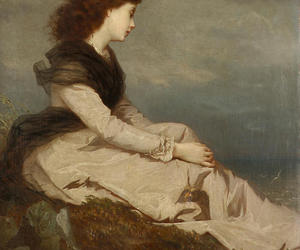 gazing, old, and painting image