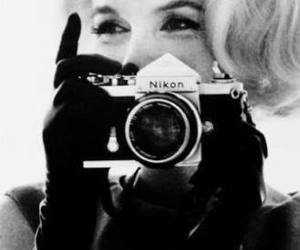 black and white, camera, and vintage image