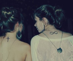 girl, tattoo, and friends image
