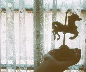 carousel, hand, and vintage image