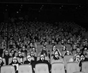 scream, black and white, and cinema image
