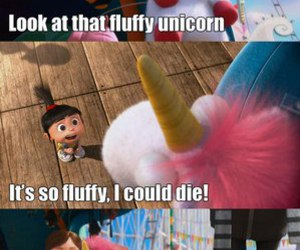unicorn, fluffy, and despicable me image