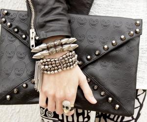 fashion, black, and skull image