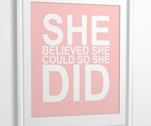 text, believe, and pink image