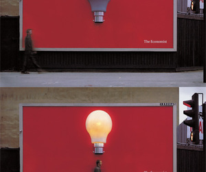 idea, lamp, and the economist image