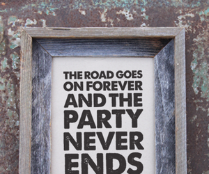 party never ends, party never ends print, and tumbleroot typography image