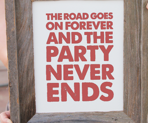 tumbleroot typography, tumbleroot poster, and party never ends image