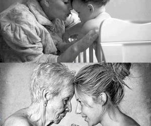 black and white, child, and love image