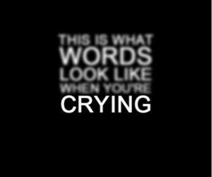 crying, quote, and words image