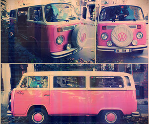 pink, bus, and car image