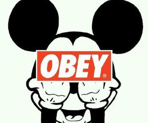 mickey mouse and obey image
