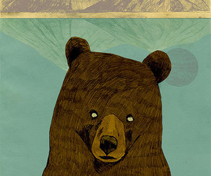 bear, mountain, and drawing image