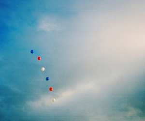sky, balloons, and blue image
