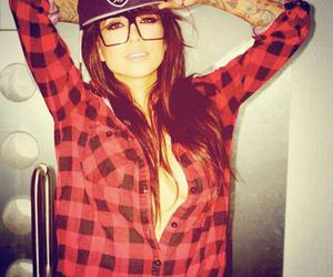 girl, swag, and tattoo image