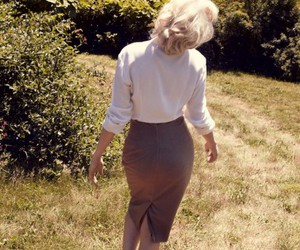 Marilyn Monroe, michelle williams, and vogue image