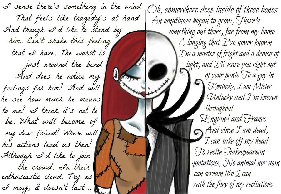 Sally And Jack (Nightmare Before Christmas) By ~WilloWhisper18 On DeviantART