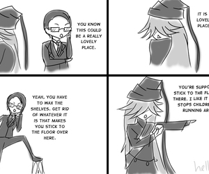 black butler, comic, and funny image