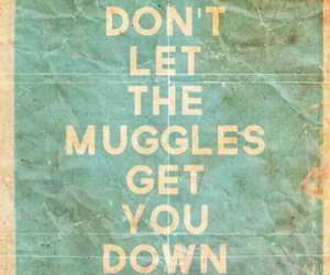 harry potter, muggles, and quote image