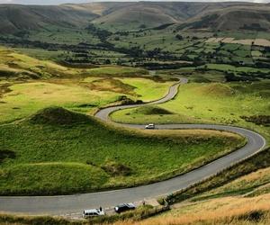 cars, derbyshire, and landscape image
