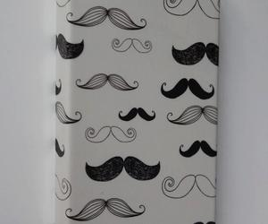 mustache and iphone image