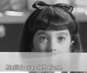 matilda, girl, and quotes image