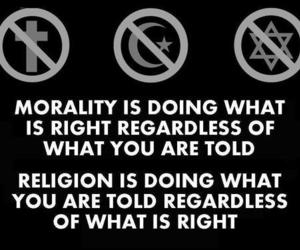 religion, morality, and text image