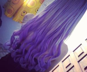 hair, purple, and colorfull hair image