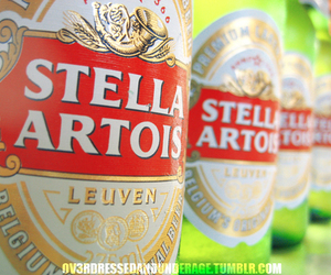 beer, stella, and stella artois image