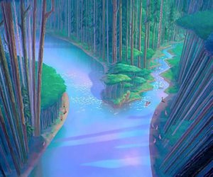pocahontas, disney, and river image