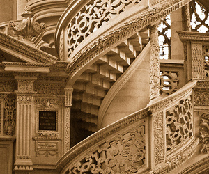 architecture, paris, and stairs image