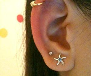 cartilage piercing, double piercing, and ear cuff image