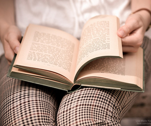 books, reading, and girl image