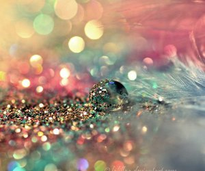 feather, pastel, and glitter image