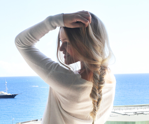 blond, sea, and braid image