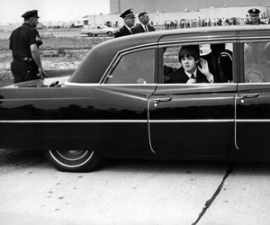 black and white, car, and Paul McCartney image