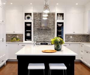 kitchen, interior, and white image