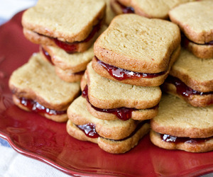 food, jelly, and sandwich image